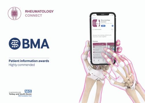 Award: BMA Highly Commended - Rheumatology App